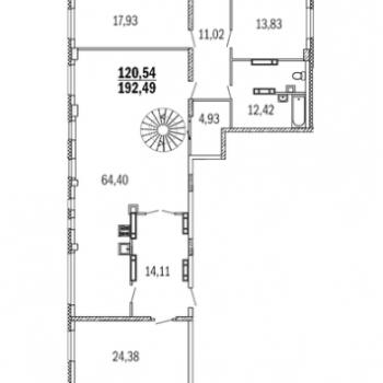 ЖК Дом с террасами (Нижний Новгород) – планировка №14