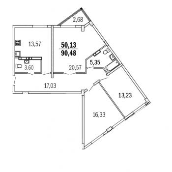 ЖК Дом с террасами (Нижний Новгород) – планировка №12