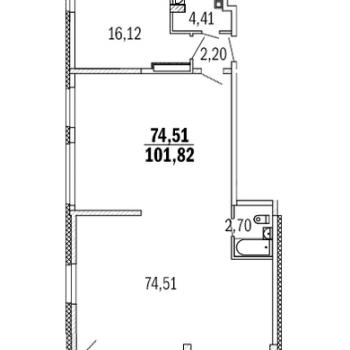ЖК Дом с террасами (Нижний Новгород) – планировка №11