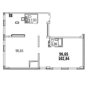ЖК Дом с террасами (Нижний Новгород) – планировка №10