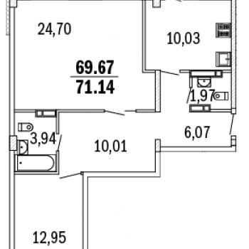 ЖК Дом с террасами (Нижний Новгород) – планировка №9