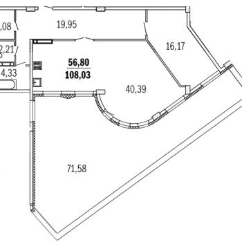 ЖК Дом с террасами (Нижний Новгород) – планировка №8