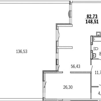 ЖК Дом с террасами (Нижний Новгород) – планировка №7