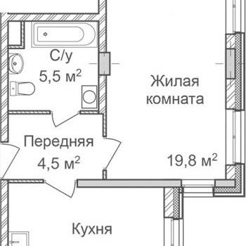 ЖК Маршал Град (Нижний Новгород) – планировка №2
