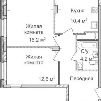 ЖК Маршал Град (Нижний Новгород) – планировка №3