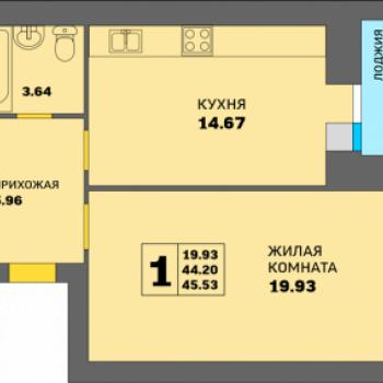 ЖК Парк Горького (Нижний Новгород) – планировка №3