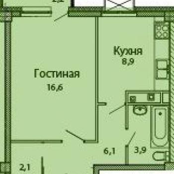 ЖК Каскад на Сусловой (Нижний Новгород) – планировка №1