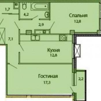 ЖК Каскад на Сусловой (Нижний Новгород) – планировка №4