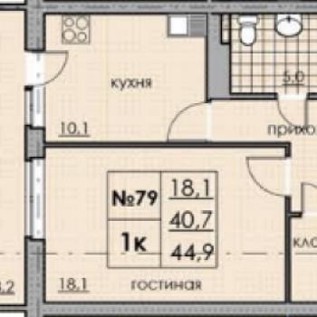 ЖК Классика-Модерн (Нижний Новгород) – планировка №1