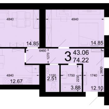 ЖК Заречный (Новгород) – планировка №8