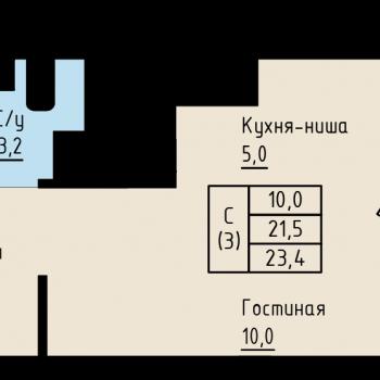 ЖК Алые Паруса (Новгород) – планировка №2