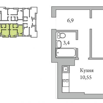 ЖК Орловская усадьба (Новгород) – планировка №4