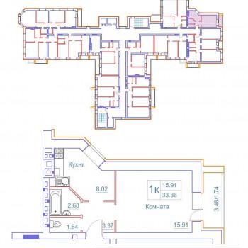 Дом на Космонавтов (Новгород) – планировка №1