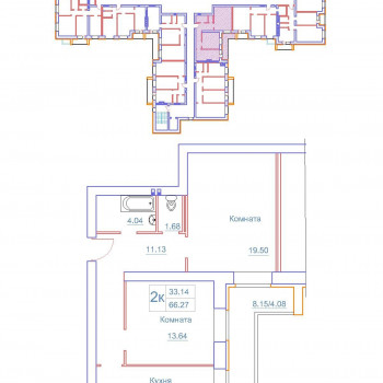 Дом на Космонавтов (Новгород) – планировка №2