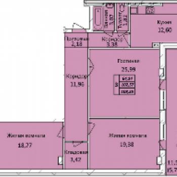 ЖК Тихвинский квартал (Новосибирск) – планировка №2