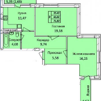 ЖК Тихвинский квартал (Новосибирск) – планировка №3