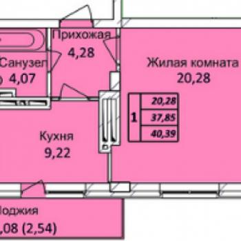 ЖК Тихвинский квартал (Новосибирск) – планировка №1