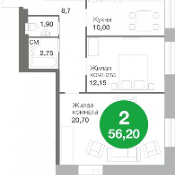 Город-парк Ясный берег (Новосибирск) – планировка №3