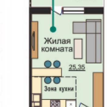 ЖК Плющихинский квартал (Новосибирск) – планировка №1