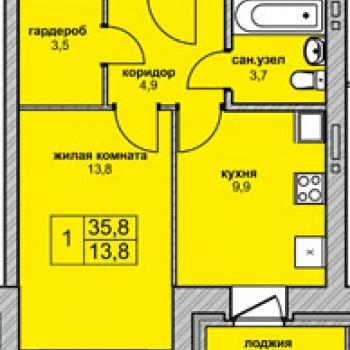 ЖК Северная корона (Новосибирск) – планировка №4
