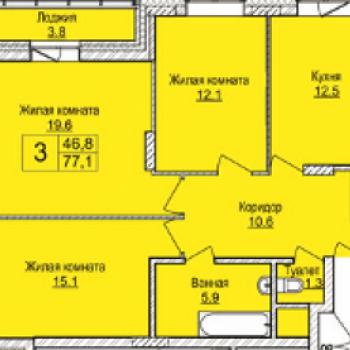 ЖК Северная корона (Новосибирск) – планировка №2