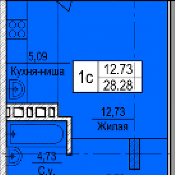 ЖК Дакар (Новосибирск) – планировка №1