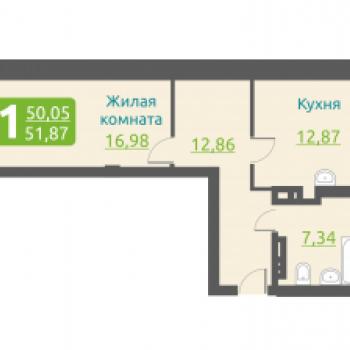 ЖК Марсель (Новосибирск) – планировка №3