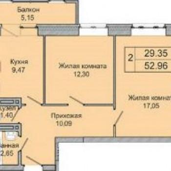 ЖК Стрижи на Кирова (Новосибирск) – планировка №3