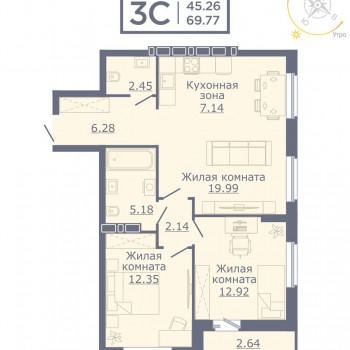 ЖК Дом на Садовой (Новосибирск) – планировка №9