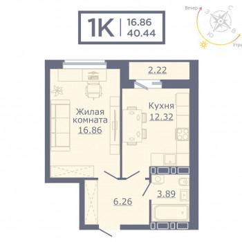 ЖК Дом на Садовой (Новосибирск) – планировка №2