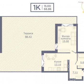 ЖК Дом на Садовой (Новосибирск) – планировка №1