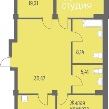 ЖК Лазурит (Новосибирск) – планировка №13