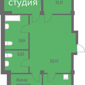 ЖК Лазурит (Новосибирск) – планировка №12