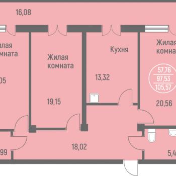 ЖК Лазурит (Новосибирск) – планировка №8