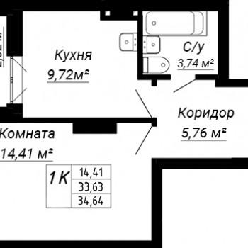 ЖК дом на Лежена (Новосибирск) – планировка №1