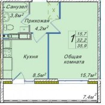 ЖК Венеция (Новосибирск) – планировка №2