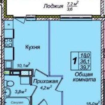 ЖК Венеция (Новосибирск) – планировка №1