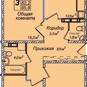 ЖК Венеция (Новосибирск) – планировка №9