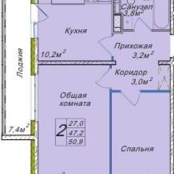 ЖК Венеция (Новосибирск) – планировка №6