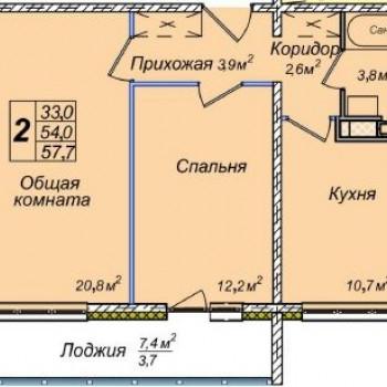 ЖК Венеция (Новосибирск) – планировка №5
