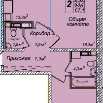 ЖК Венеция (Новосибирск) – планировка №4