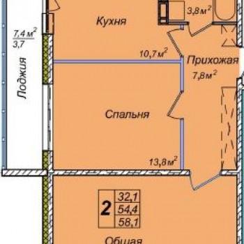 ЖК Венеция (Новосибирск) – планировка №3