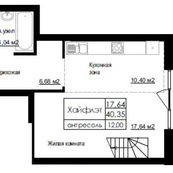 ЖК Дом на Березовой роще (Новосибирск) – планировка №4