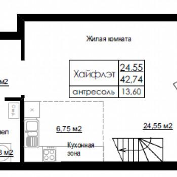 ЖК Дом на Березовой роще (Новосибирск) – планировка №3