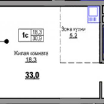ЖК по ул. Русская (Новосибирск) – планировка №1