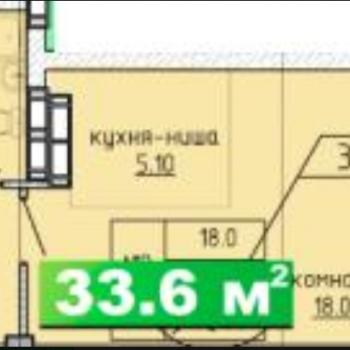 ЖК Миллениум (Омск) – планировка №1