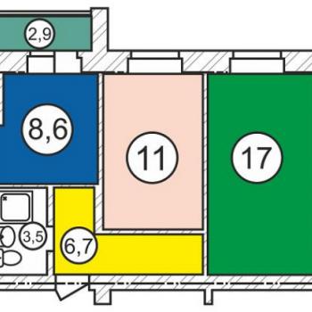 Микрорайон Ясная Поляна (Омск) – планировка №1