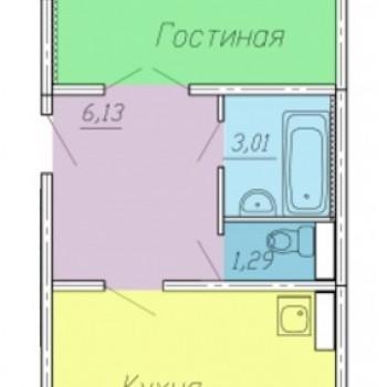 ЖК Тарская крепость 2 (Омск) – планировка №6