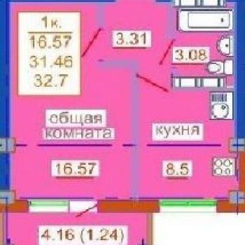 ЖК Сады Наука (Омск) – планировка №3