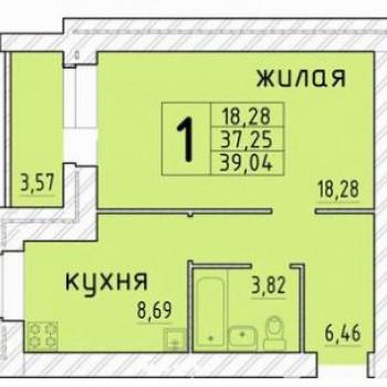 ЖК на ул. Михалицына (Орёл) – планировка №2